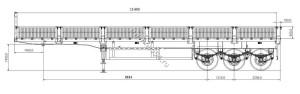 Полуприцеп-контейнеровоз TONGYADA CTY9403 бортовой