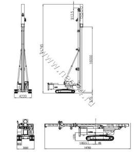 Сваебойная машина STORKE LH50 на гусеничном ходу (габариты) (3)
